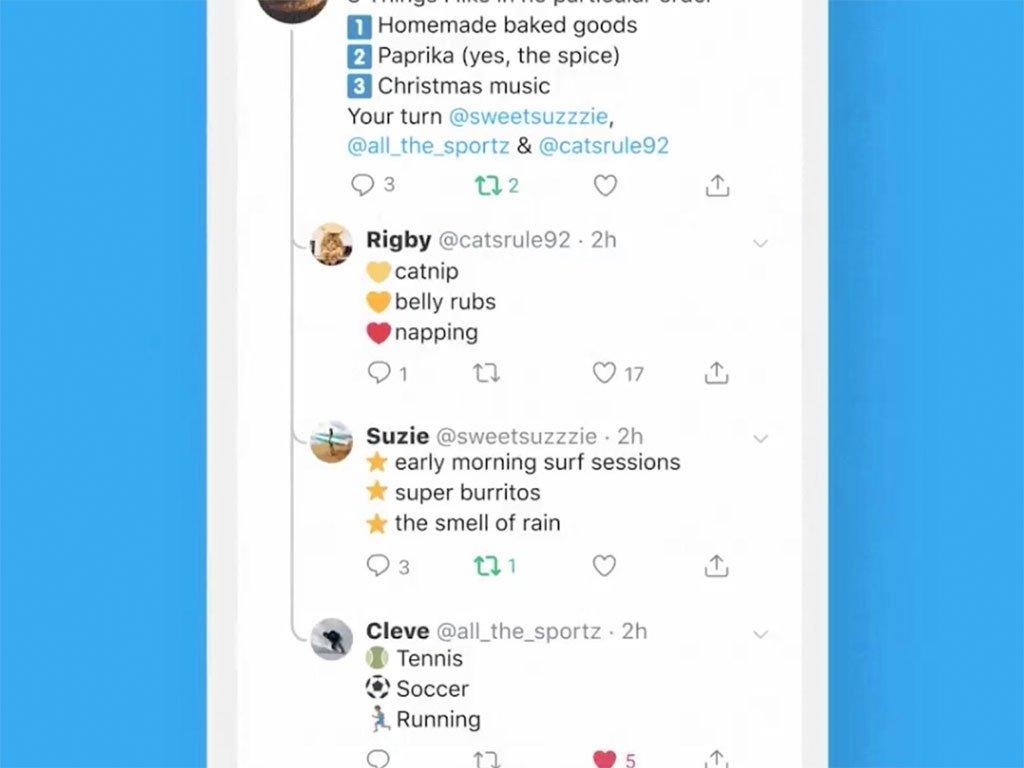 Twitter respostas mensagens