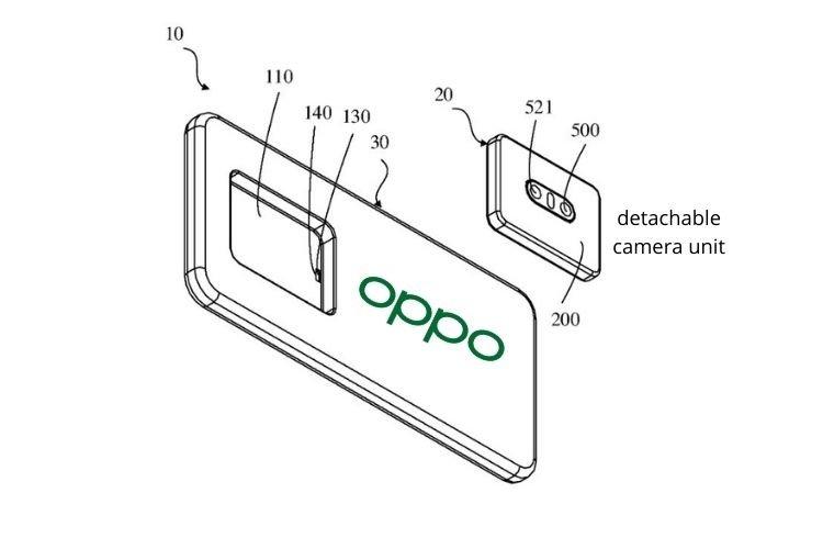 Oppo smartphone patente câmara traseira