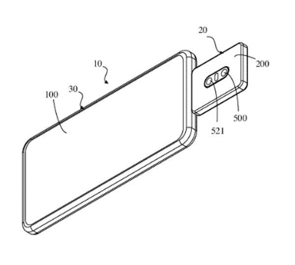 imagem da patente com módulo de câmara no smartphone