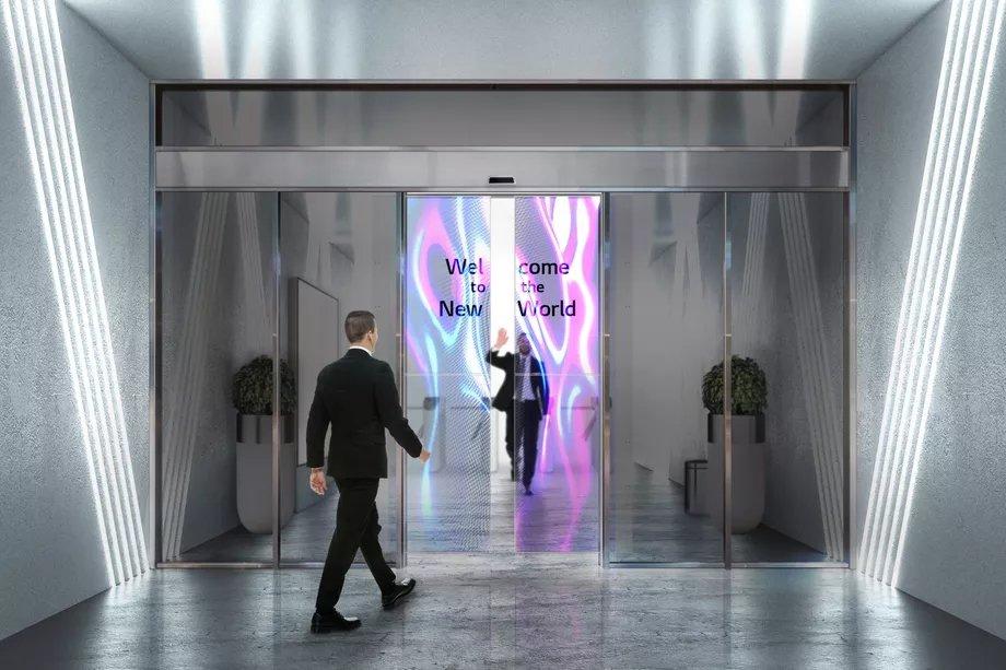 portas da LG com painéis oled