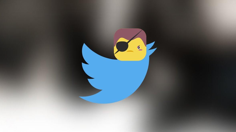 Twitter pirataria