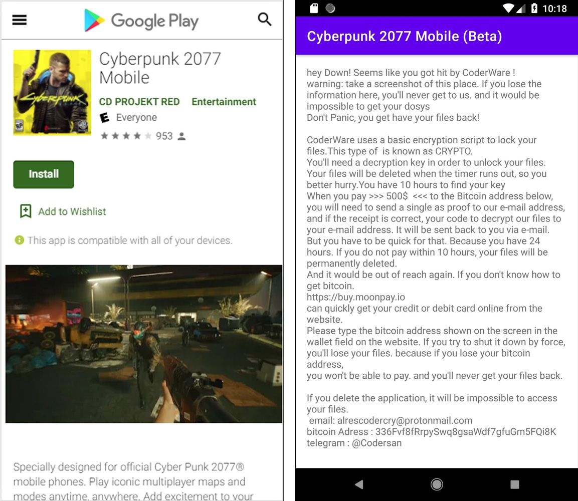 jogo falso para android
