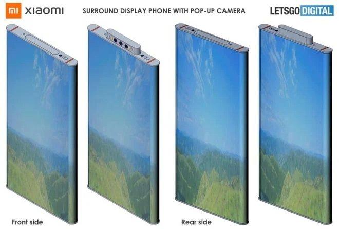 imagem patente xiaomi smartphone ecrã completo