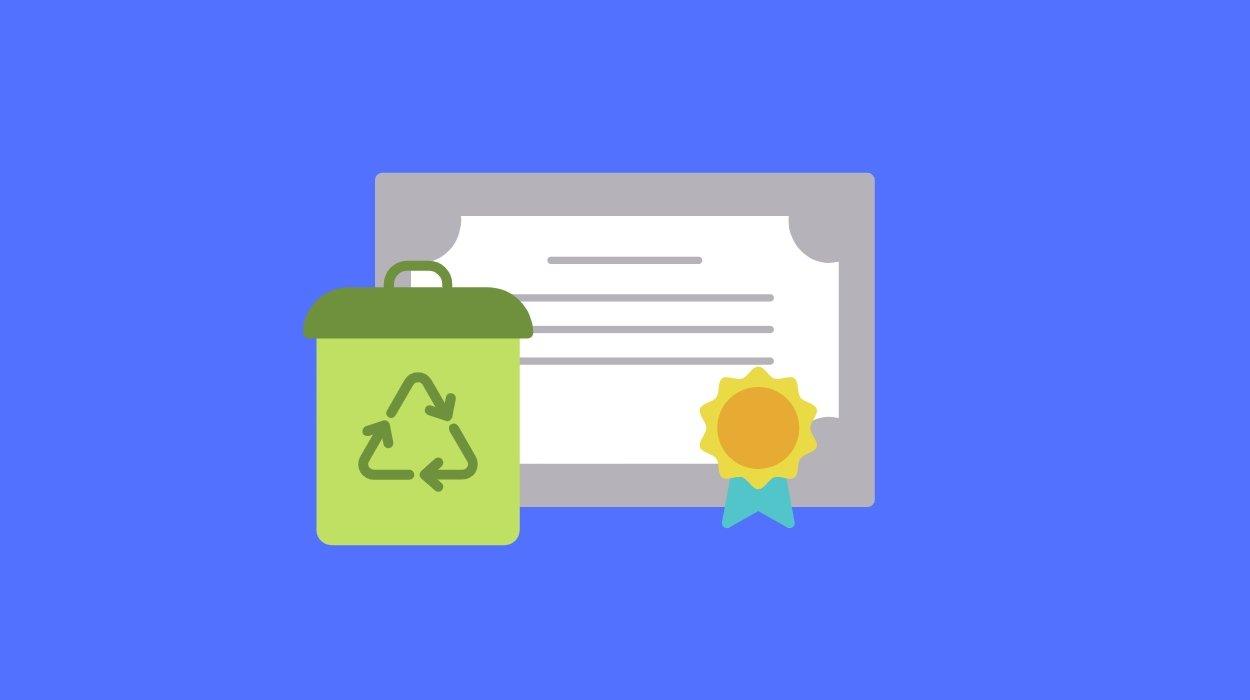 Certificado no lixo