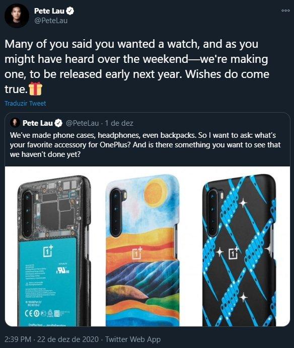 OnePlus watch confirmação