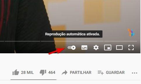 reprodução automática no youtube