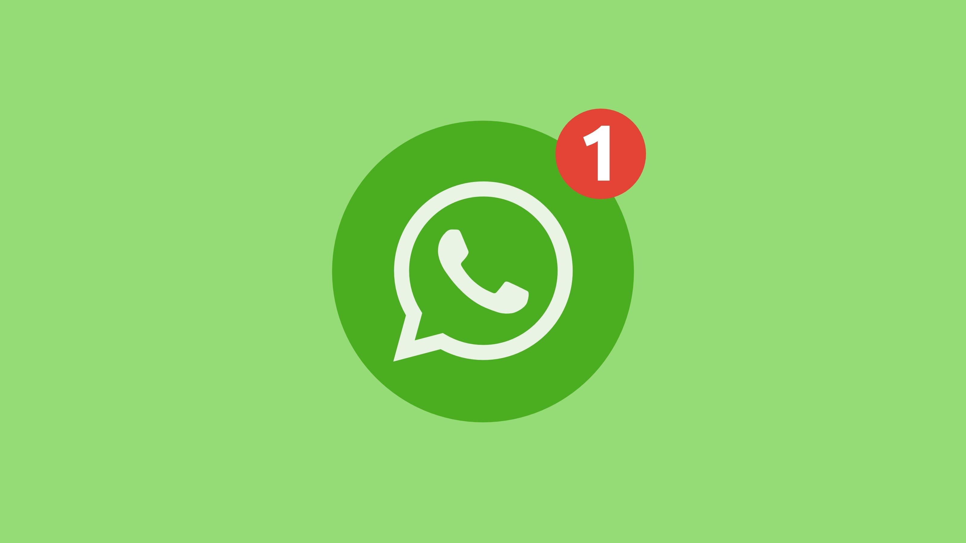 WhatsApp logo ícone notificação