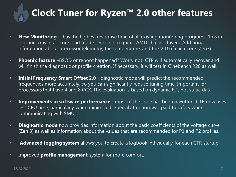 características clock tuner