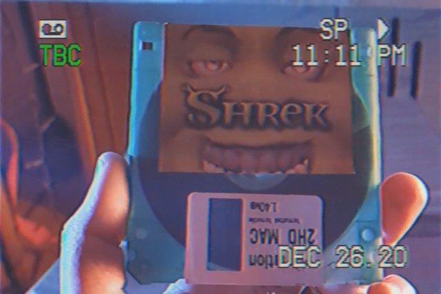Shrek numa disquete