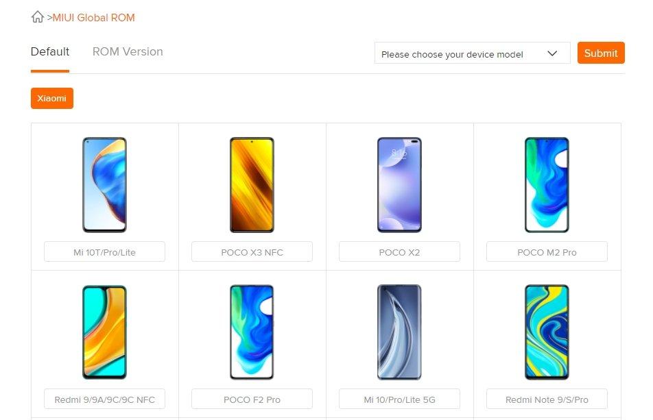 Xiaomi portal de roms