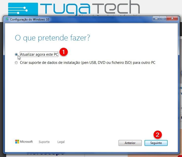 Upgrade do Windows 10