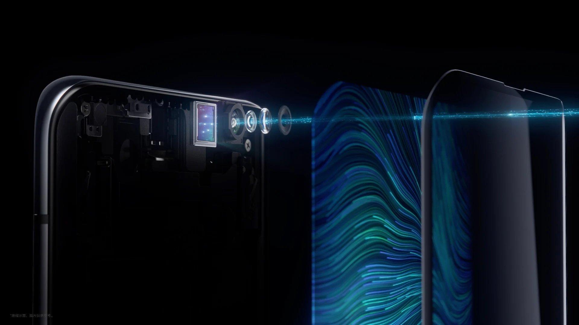 Samsung câmara atrás do ecrã