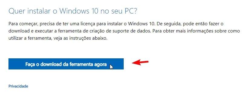 Windows 10 media tool creation