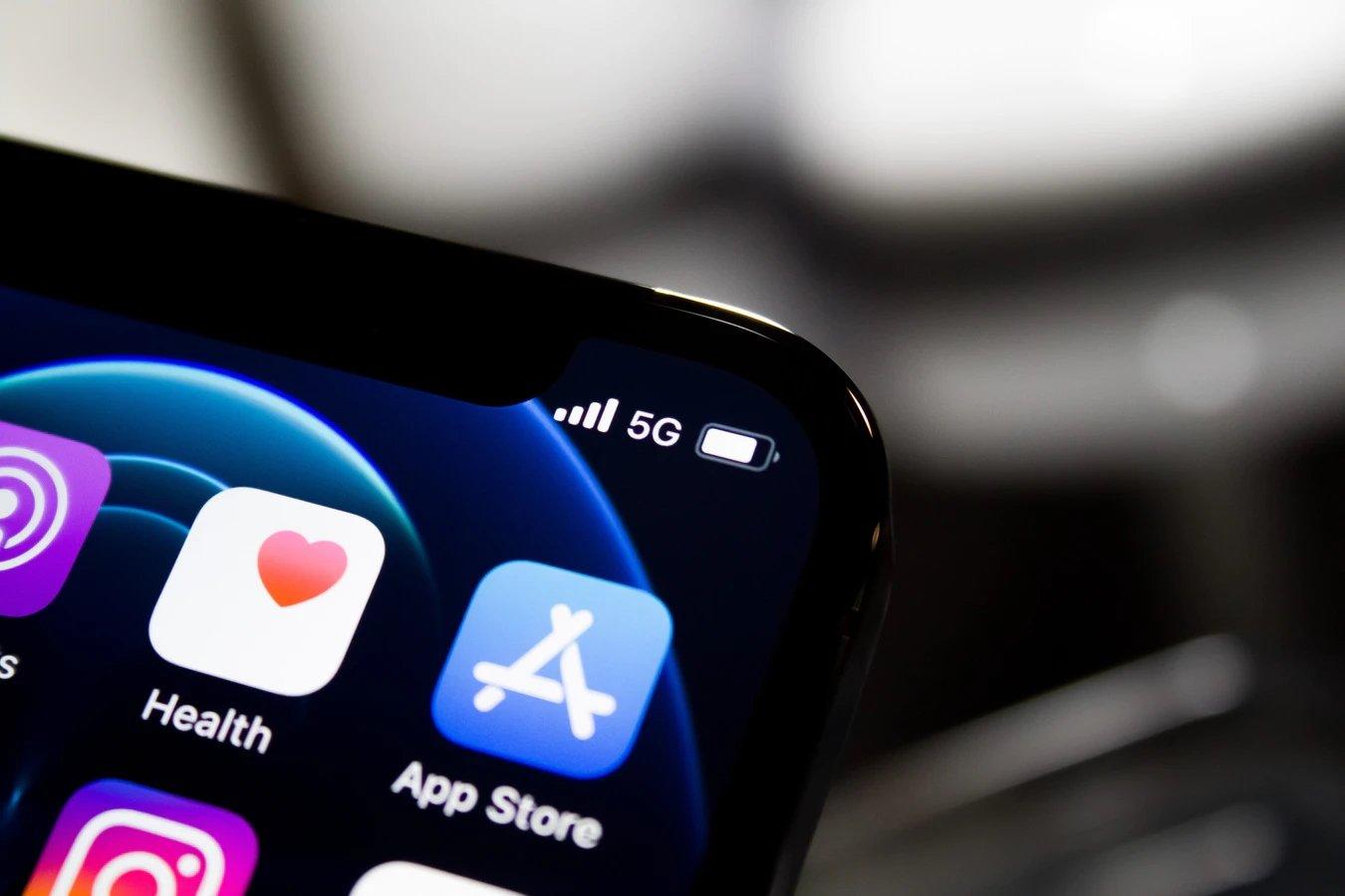 rede 5g em smartphone