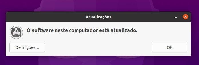 sistema atualizado Ubuntu