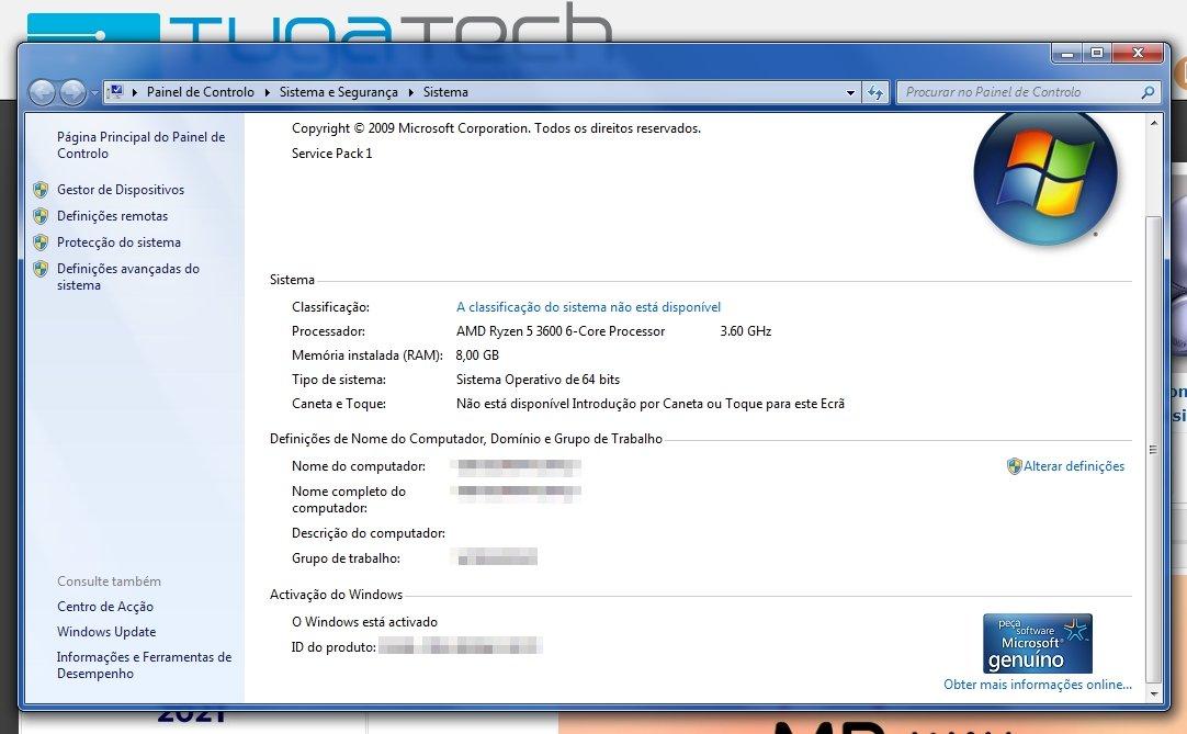 ativação do Windows 7