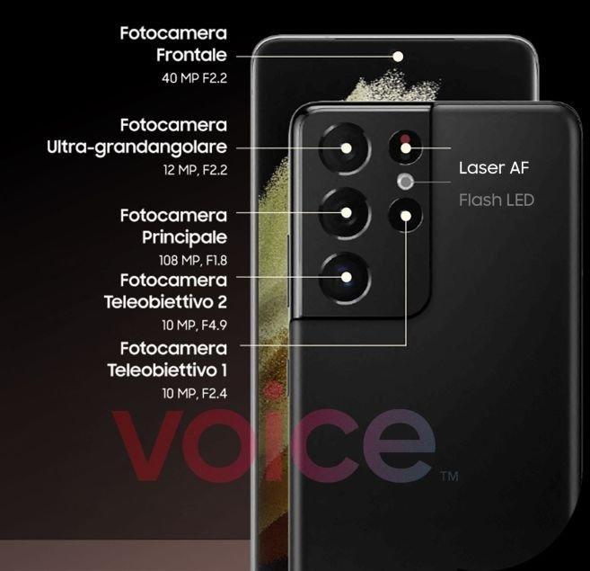 s21 ultra câmaras e sensores