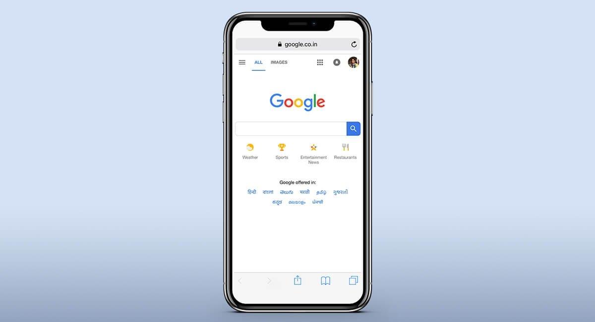 Google sobre iPhone