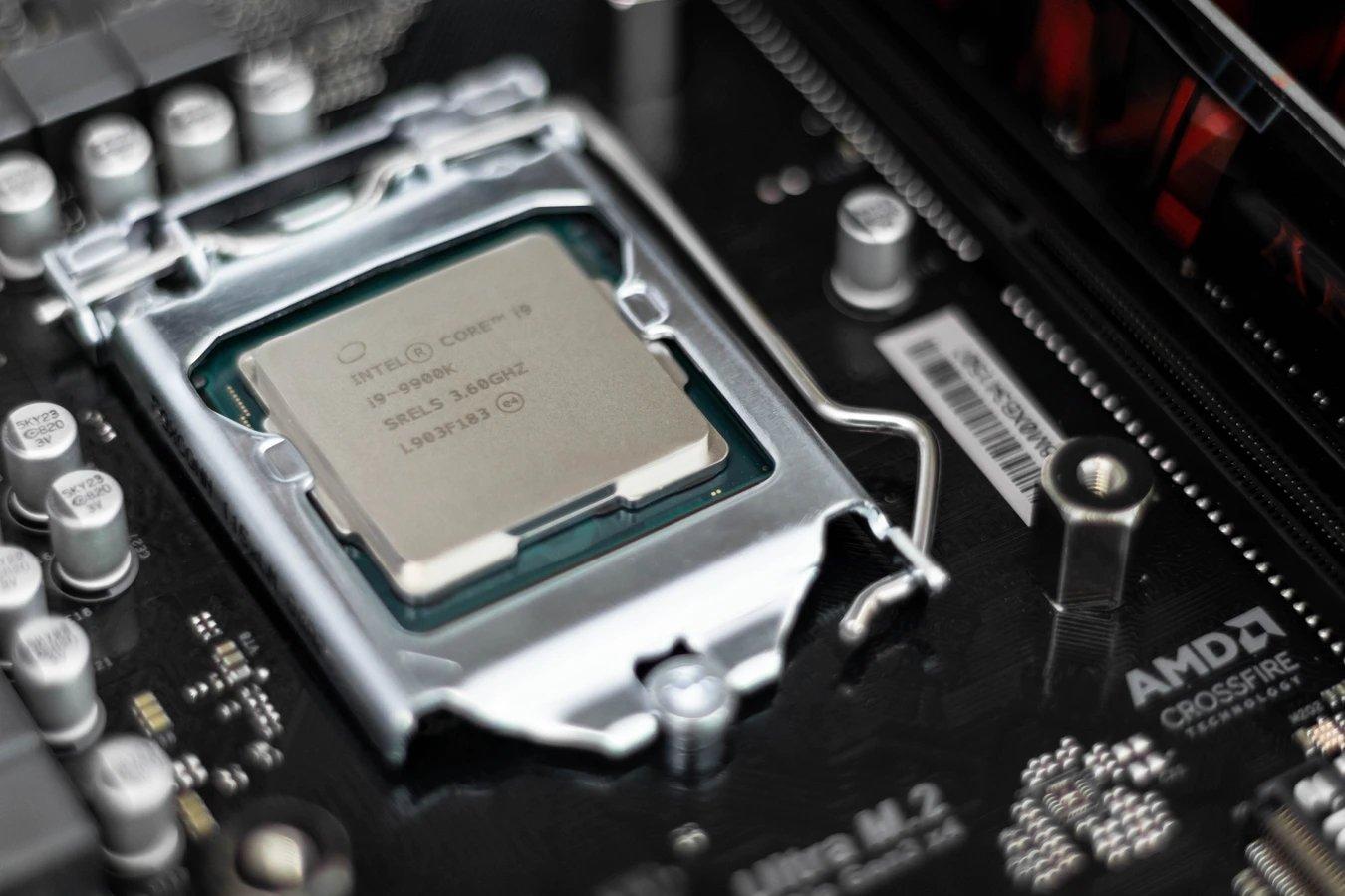Processador da Intel na motherboard
