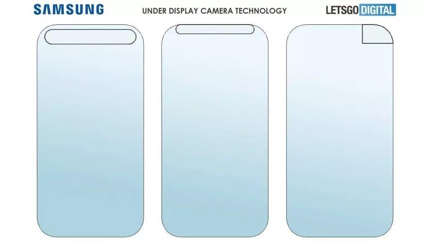 patente da samsung sobre câmara atrás do ecrã