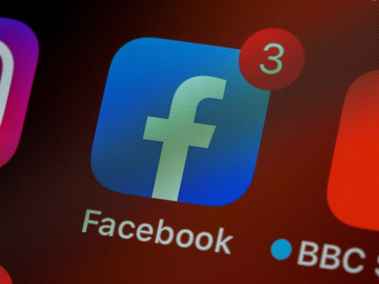 Facebook ícone aplicação em smartphone