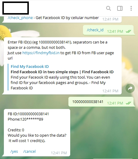 bot telegram números de telefone