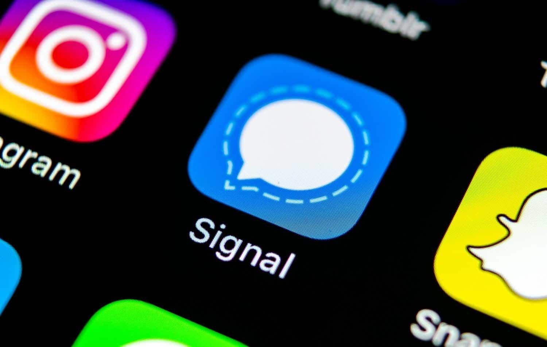 Signal app smartphone