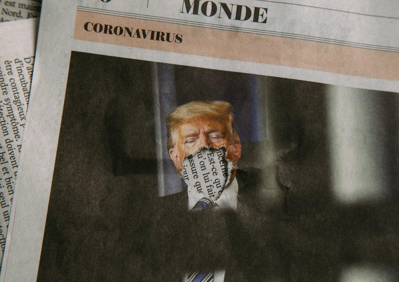 Donald Trump silêncio