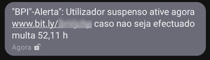 mensagem phishing