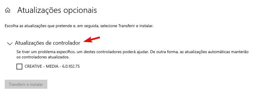 atualização de drivers windows 10