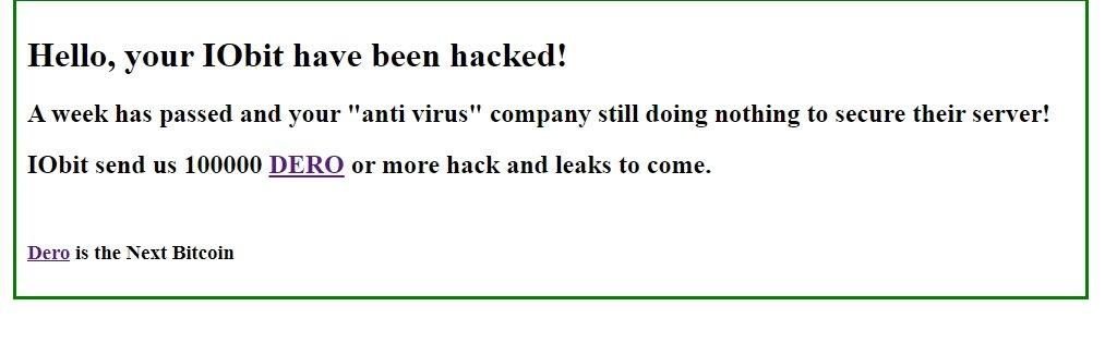 ataque servidor iobit