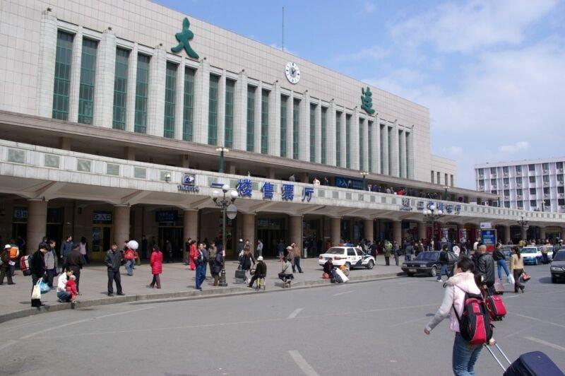 Estação de caminhos de ferro na china