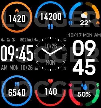 exemplo de imagens do clock mi band 6