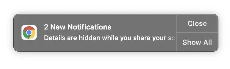 exemplo de notificação oculta
