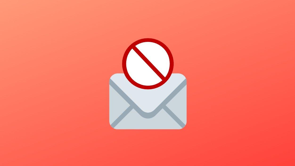 Email bloqueado por spam