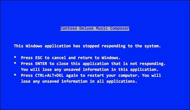 blue screen windows 95