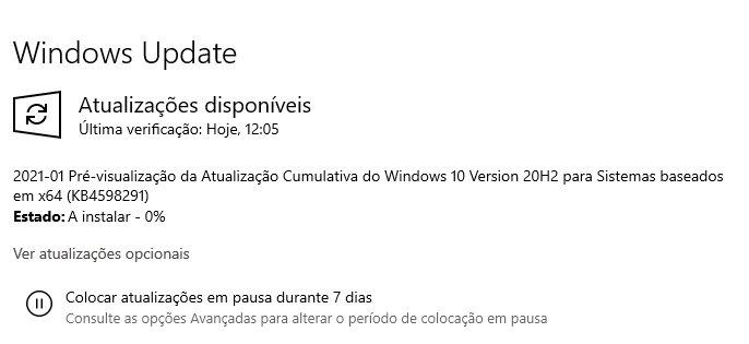 atualização do Windows