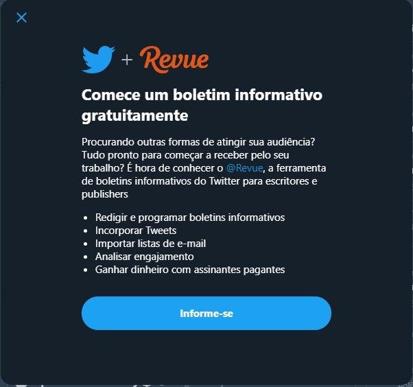 Twitter informação revue