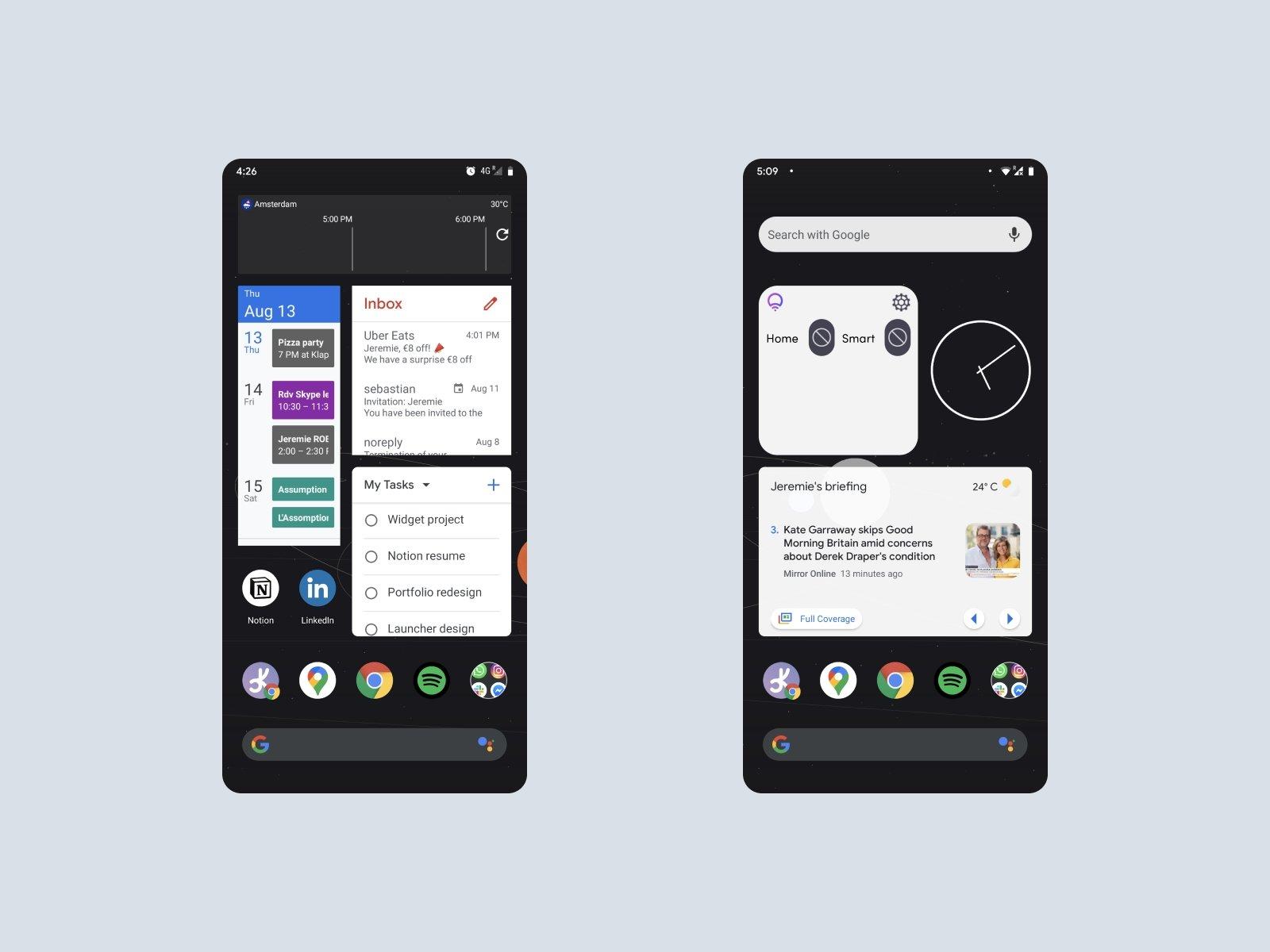 Widgets no Android