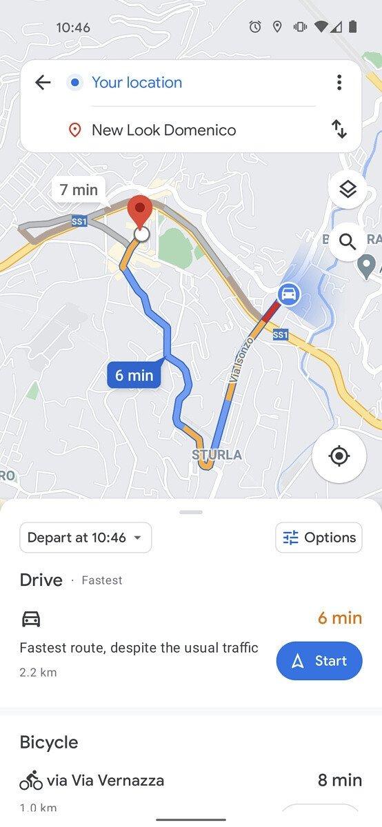 nova interface do google Maps