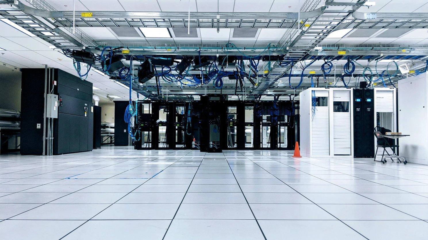 Centro de dados com servidores