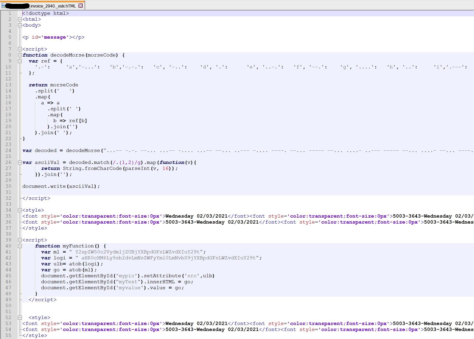 código morse em ataque de phishing