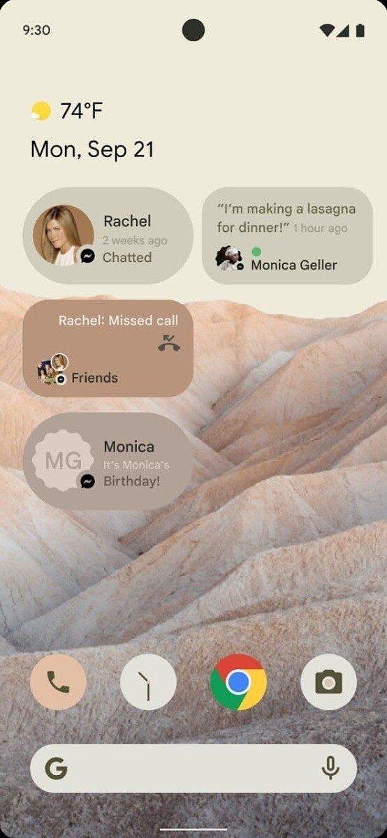 Android 12 possível design
