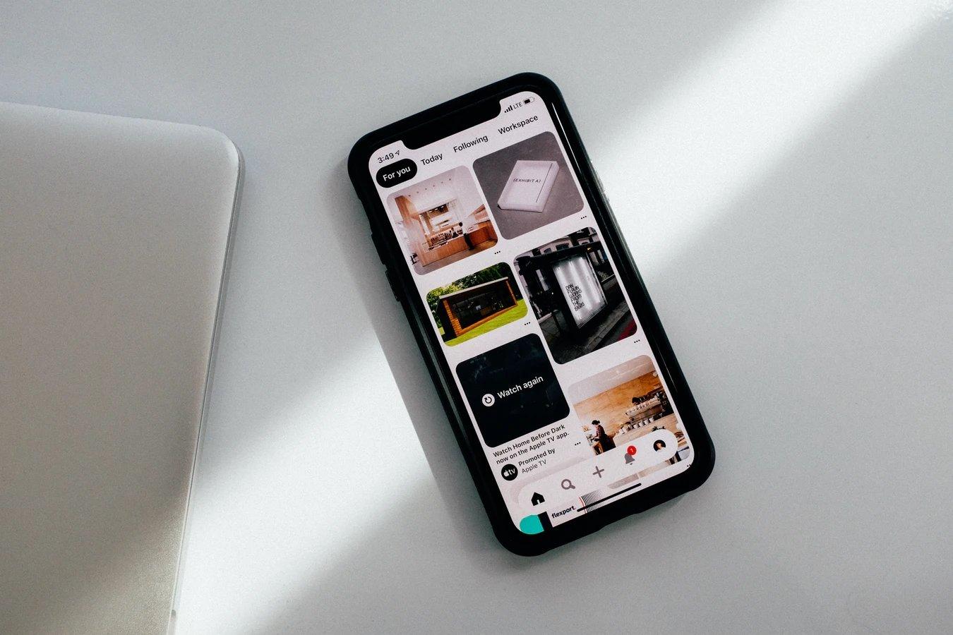 Pinterest sobre app
