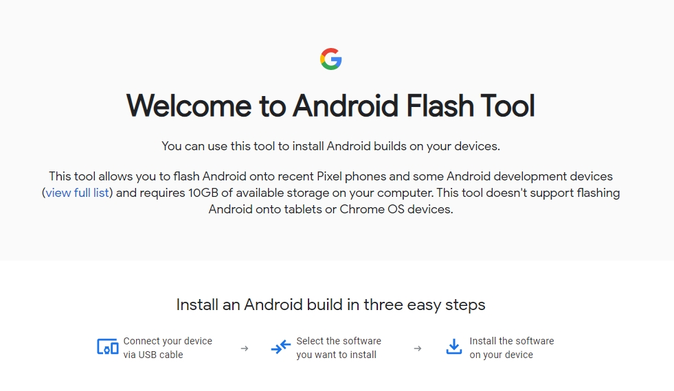 Android flash web