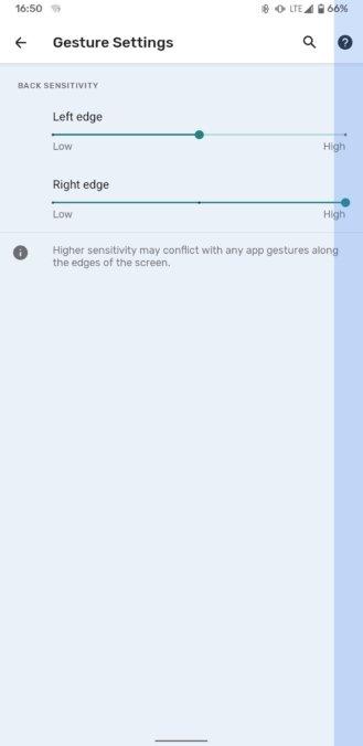 Android 12 gesto de navegação