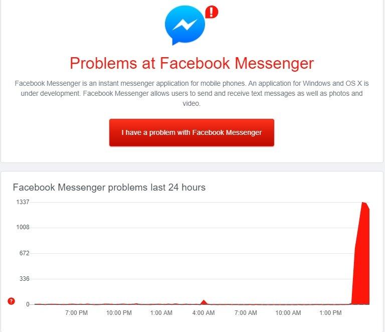 messenger down