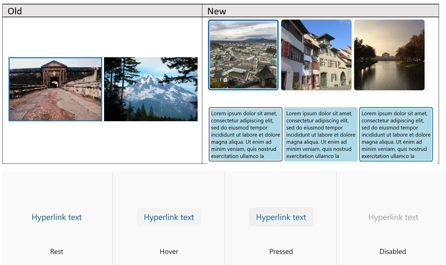 alterações design windows 10