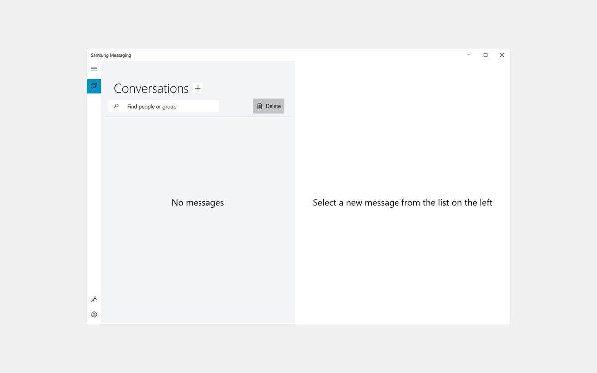 Aplicação de mensagens da Samsung