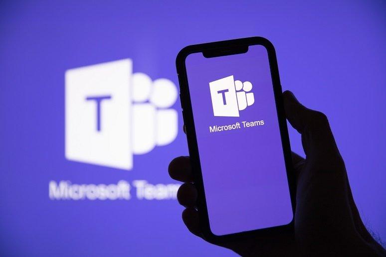 Microsoft teams app em smartphone